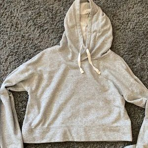 Light grey crop hoodie